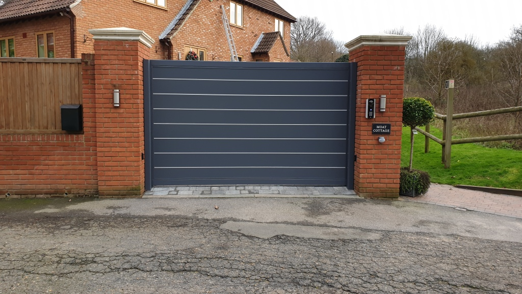 Automatic aluminium electric sliding gate in Rainham, kent